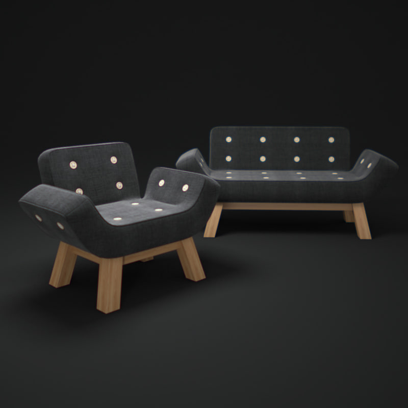 3ds max m-series-chair-and-sofa