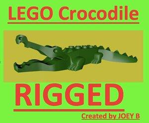 3ds max lego crocodile rigged