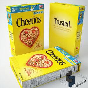 3d cheerios box contains model