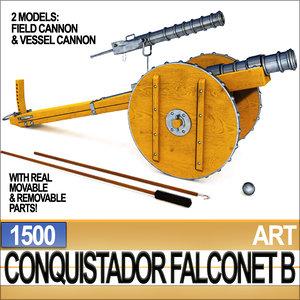 conquistador cannon falconet b 3ds