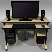 Computer Setup with Desk and Chair