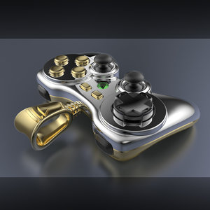3dm gold silver gamepad