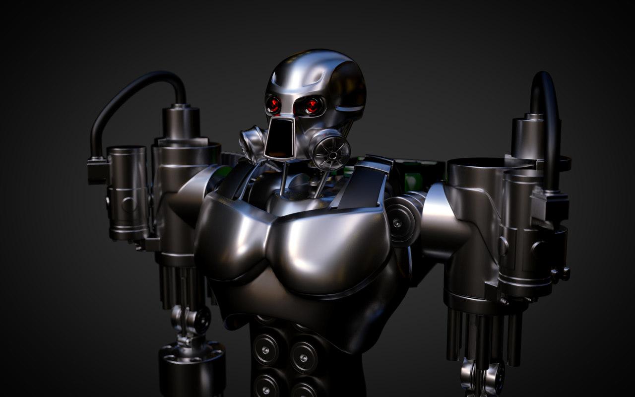 robot designed 3d model