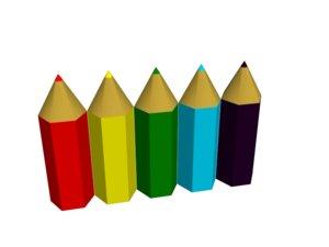 3ds simple color pencil