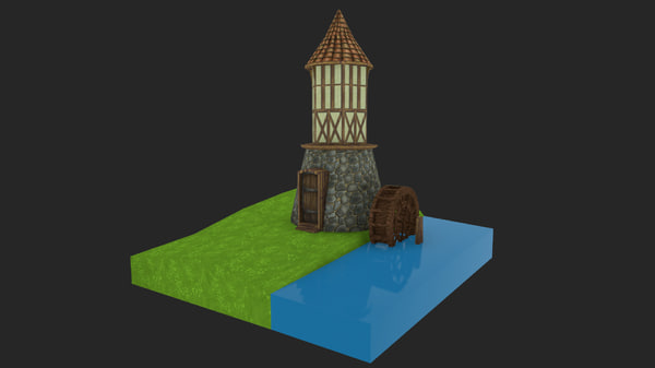 medieval watermill water max