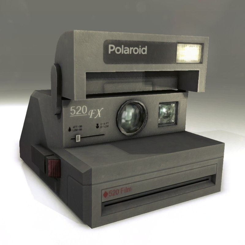 3d model of old polaroid