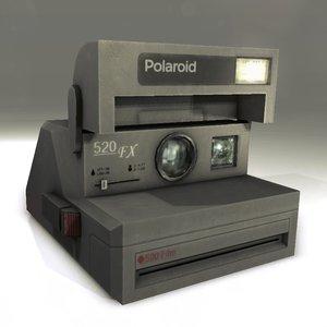 3d model of old polaroid