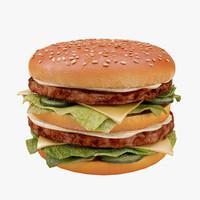 3d burger 01 model