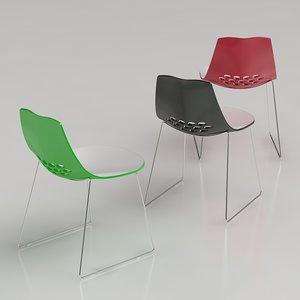 3d model calligaris jam chair