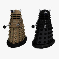 dalek enemy doctor 3d model