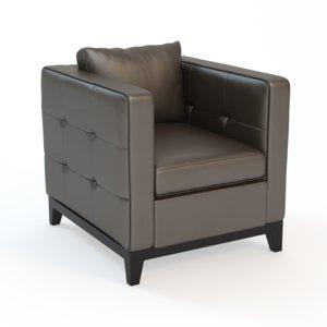 sunpan - waverly armchair 3d model