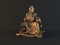 gold lion statue max