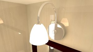 bathroom room light 3d 3ds