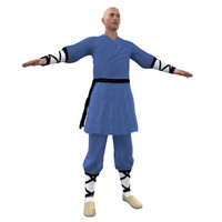 shaolin monk 3 3d max