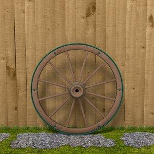 3d 3ds wagon wheel