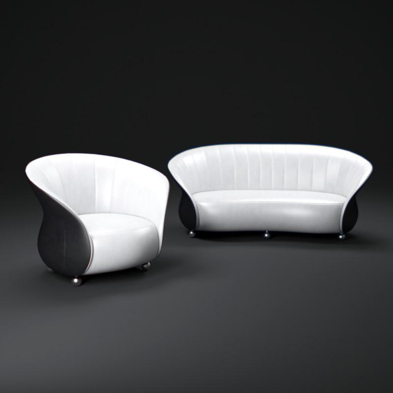 verona-sofa 3d obj