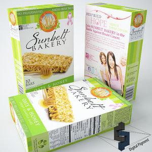 sunbelt bakery granola 3d model