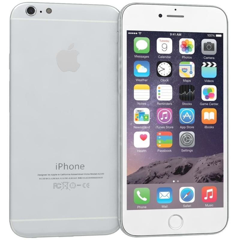 3d 3ds apple iphone 6 silver