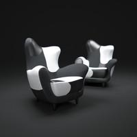 alessandra-armchair 3d model
