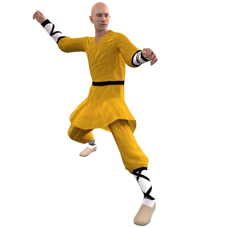 rigged shaolin monk max