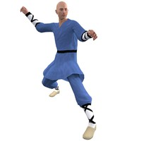 rigged shaolin monk 3 3d max