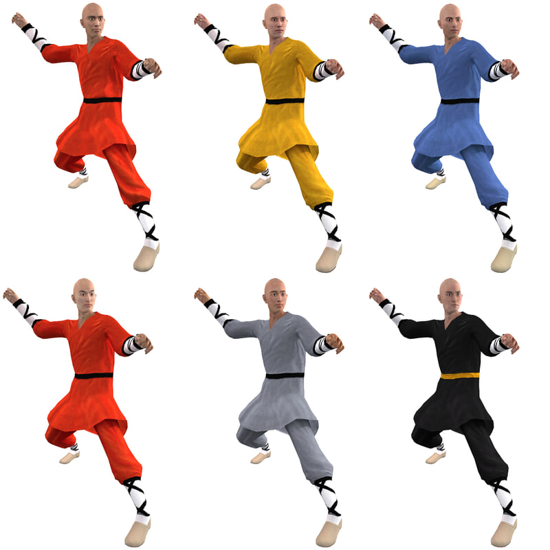 pack rigged shaolin monks max