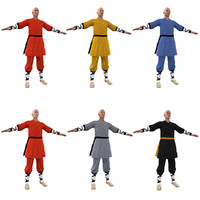 3d model pack shaolin monks