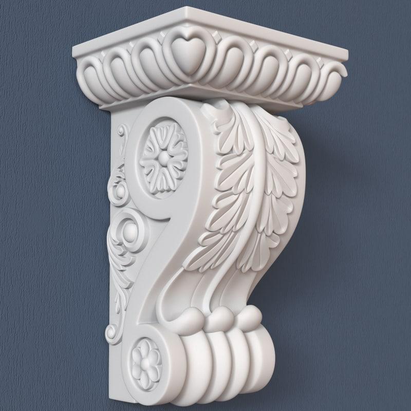 corbel decorative 3d model