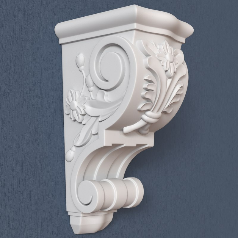 3d model corbel decorative