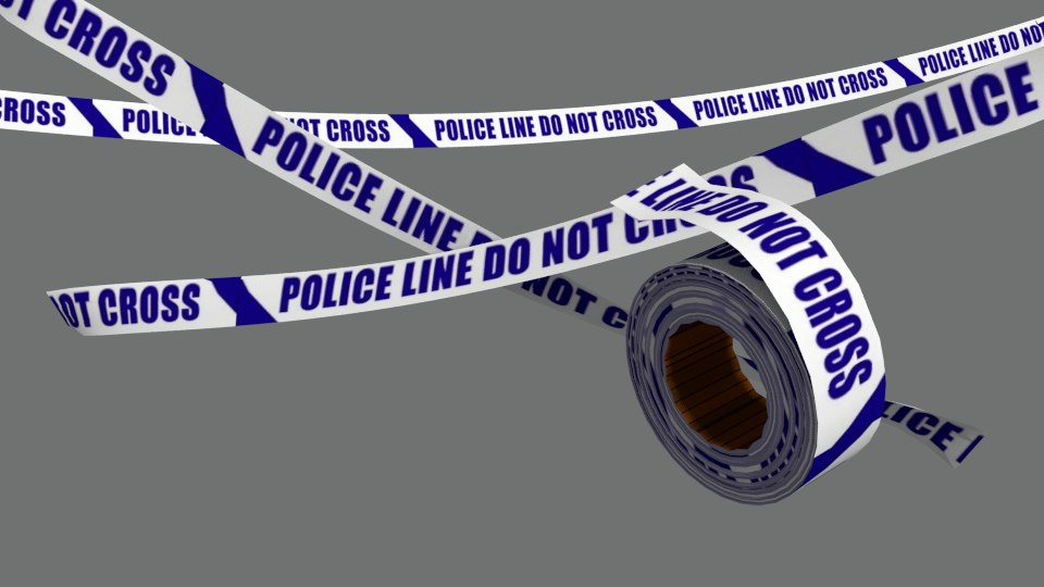 police tape 3d 3ds