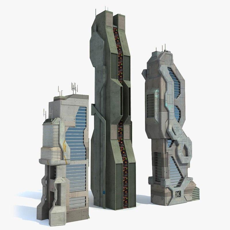 sci fi buildings city max