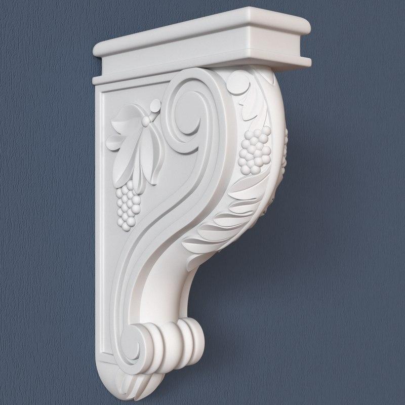 3ds max corbel decorative