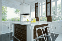 modern kitchen interior design 3d max