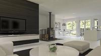 modern scandinavian interior design 3d max