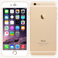 apple iphone 6 gold 3d 3ds