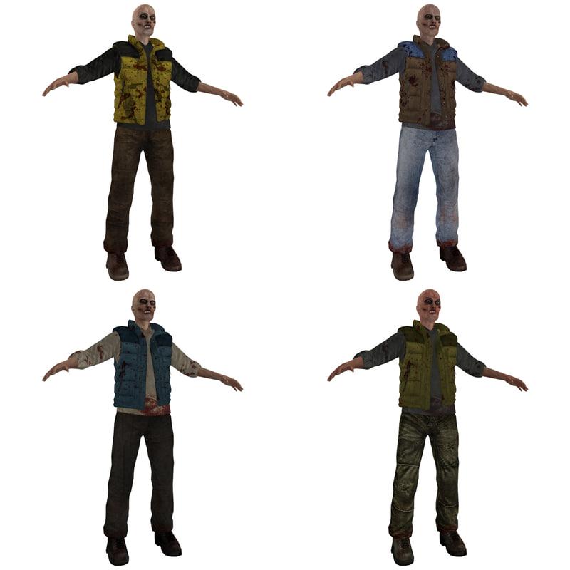 3d pack zombie model