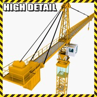 3d model of industrial tower crane