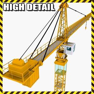 3d model of industrial tower crane