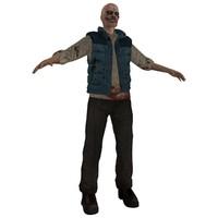 3d model of zombie
