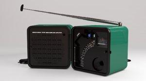 brionvega radio blender 3d obj