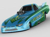 custom dragster nhra funny 3d max