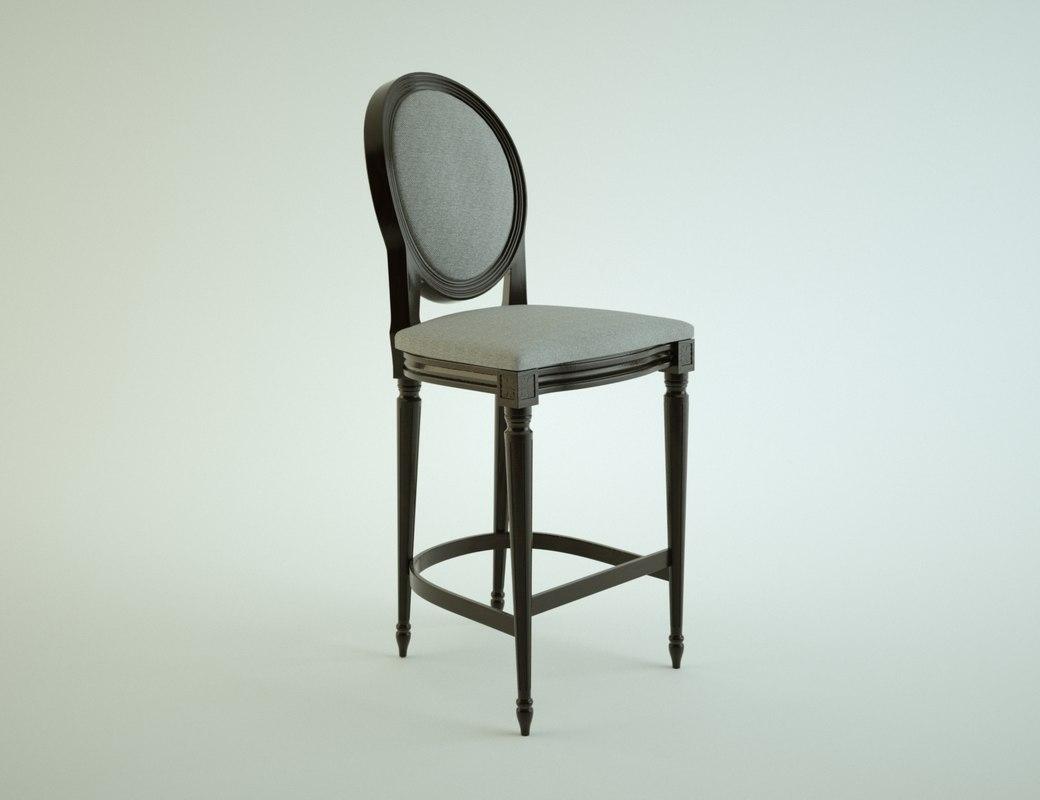 victorian chair 3d max