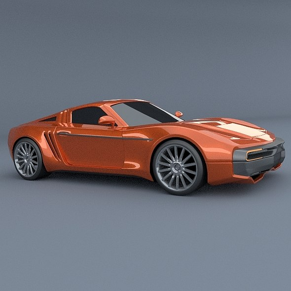 retrostyled concept 3d model