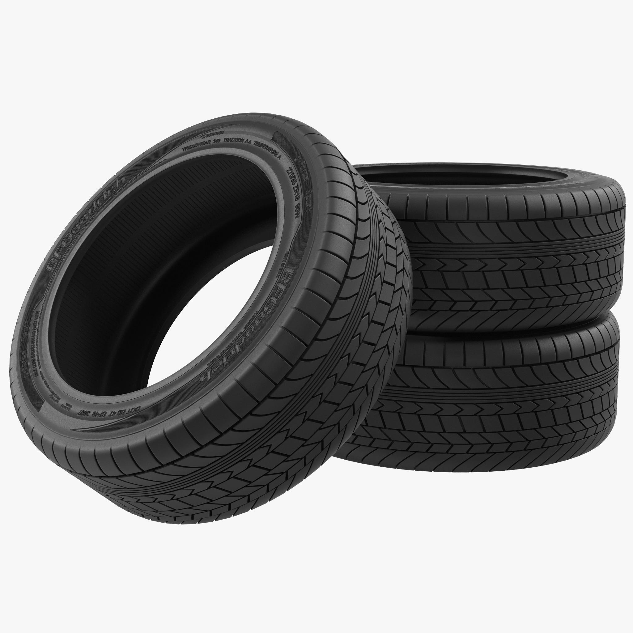 3d stack tires model