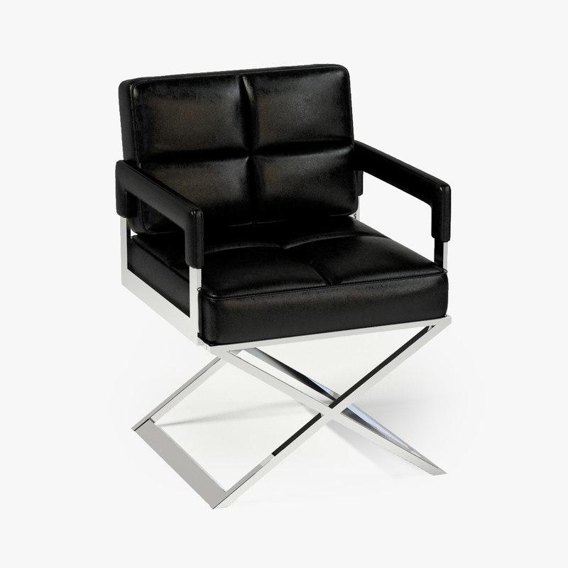 3d model eichholtz chair desk cross