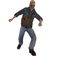 3d model rigged zombie