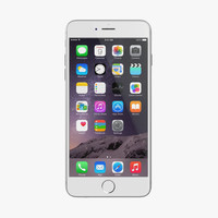 3d apple iphone 6 silver