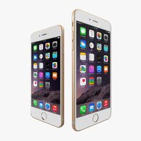 apple iphone 6 gold 3d max