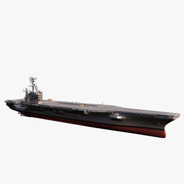 cvn 74 c aircraft carrier 3d obj