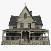 old abandoned house 3d 3ds